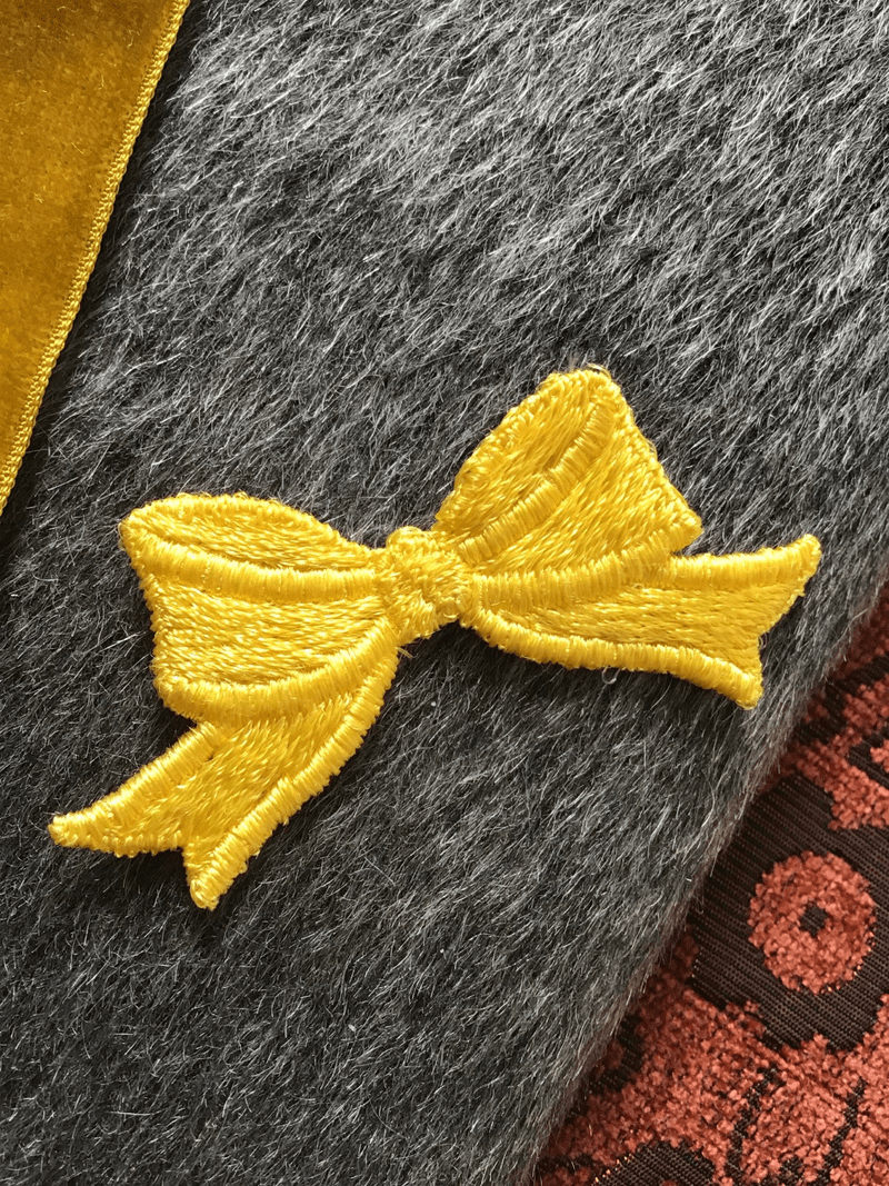 Vintage Yellow Bow Embroidery Decorative Patch #5034