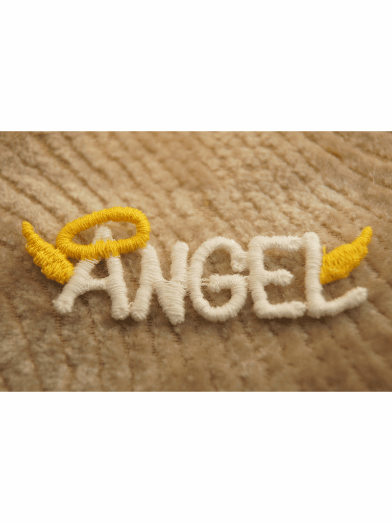 White Angel with Golden Wings and Crown Applique # appliques-1024