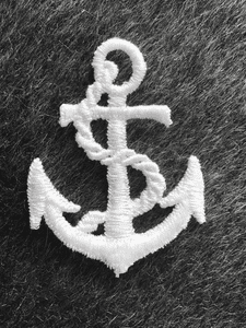 White Embroidery Anchor Vintage Decorative Patch #5000