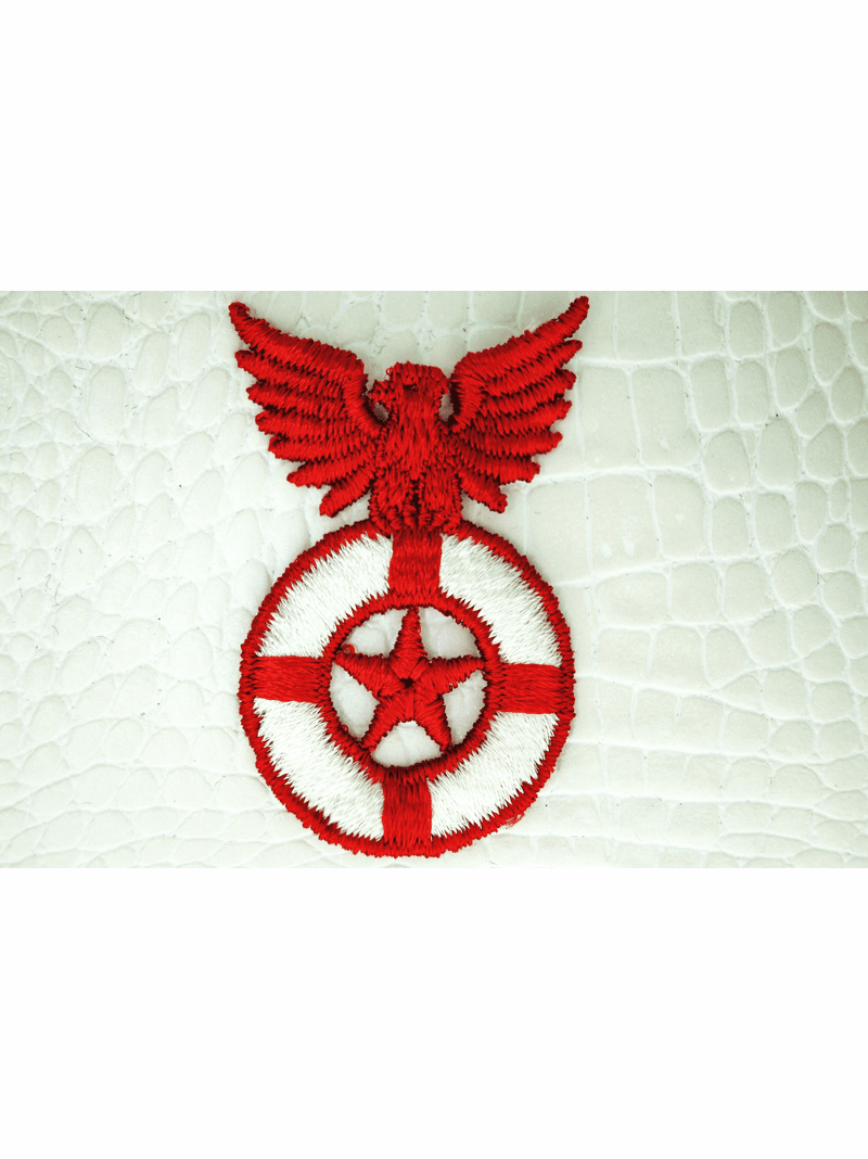 White Red Bird Star Applique #appliques-1001