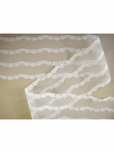 Wide Embroidered White Floral Lace Trim