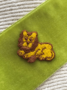 Yellow Brown Vintage Decorative Lion Sewing Patch #5066