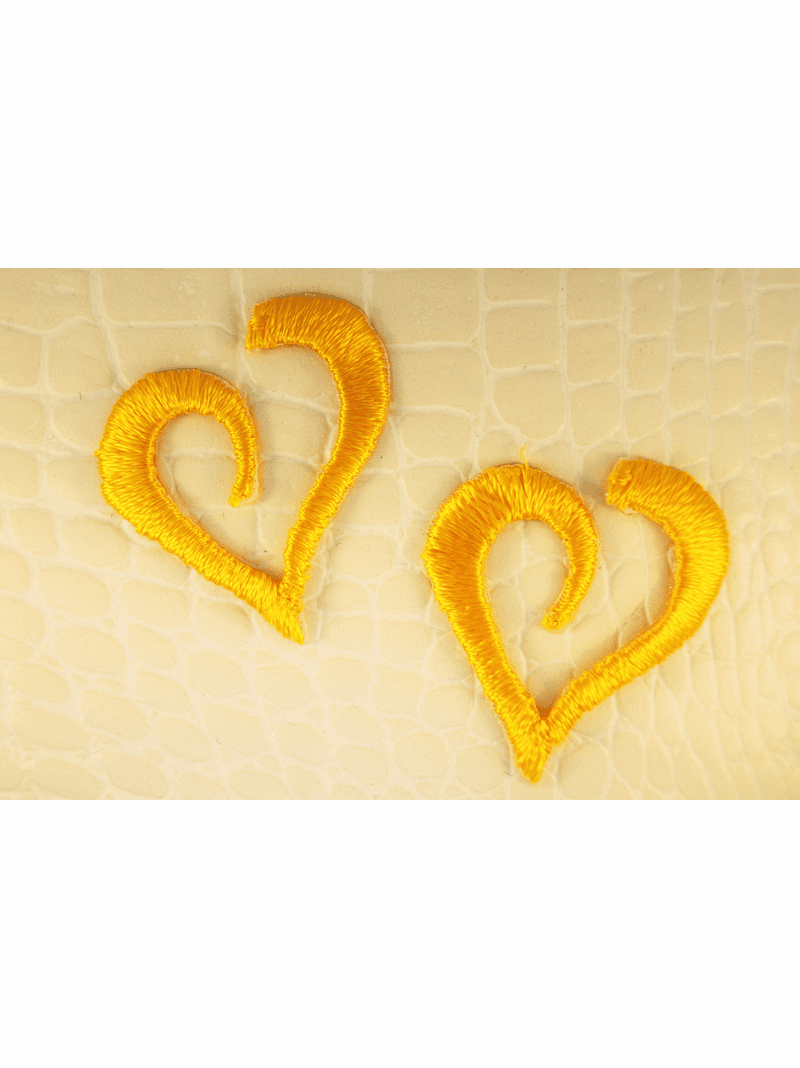 Yellow Gold Curvy Heart Iron-On Applique #appliques-6