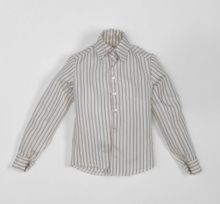 "ECRU STRIPED LONG SLEEVES SHIRT - for 17"" male"
