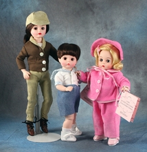 JACKIE RIDING HABIT, JOHN & CAROLINE - 3 doll set-click for more