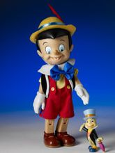 "8"" PINOCCHIO & JIMINY CRICKET - resin"