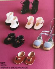 "SELF STANDING SHOE PACK - 6 pairs for 8"" Madame Alexander doll"