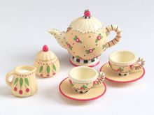 "TEA SET - scaled for 10"" Mary Engelbreit"