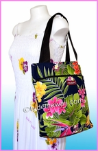 Medium Reversible Hawaiian Tote Bag - 124Navy