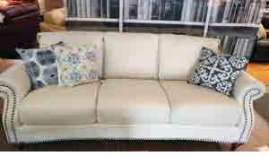 A297 Natuzzi Sofa in White Leather