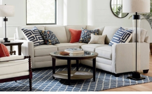 Alexander Sectional Track Arm Sofa in Straw