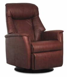Amanda Motorized Reclining Chair  in Truffle Leather Large Size