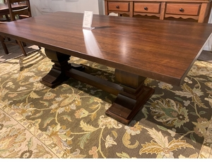 Amish Solid Cherry Dining Table with Pedestal Base