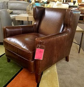 Amista Stationary Leather Club Chair by Bradington Young