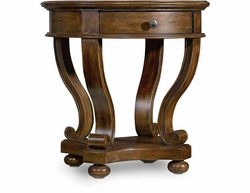 Archivist Round Accent Table