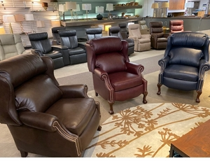 Ball & Claw Reclining Wing Chairs