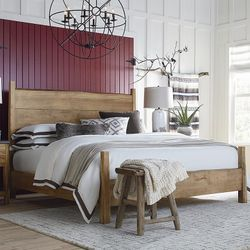 Benchmade Live Edge Maple Solid Wood Panel Bed by Bassett