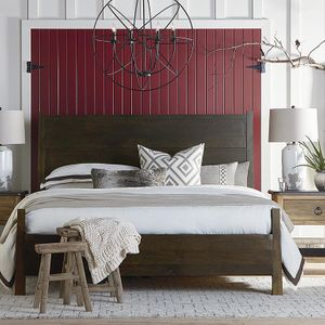 Benchmade Solid Wood Maple Panel Bed by Bassett Furniture
