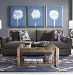 Benchmade Square Solid Wood Coffee Table by Bassett Furniture