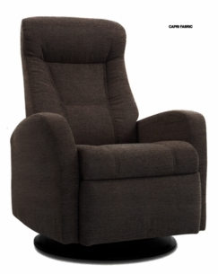Capri Motorized Relaxer Recliner in Coffee Leather Standard Size