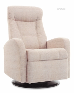 Capri Motorized Relaxer Recliner Large in Latte Leather