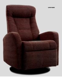 Capri Swivel Glider Rocker Recliner in Java Large