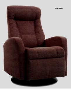 Capri Swivel Glider Rocker Recliner in Java Standard