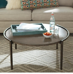 Chelsea Pier Round Cocktail Table by Bassett