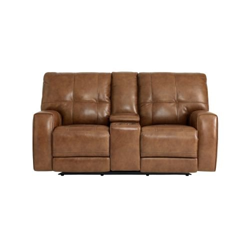 Conway Loveseat with Power and Console by Bassett
