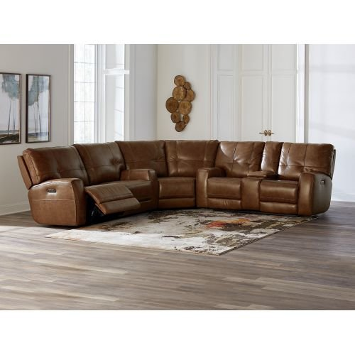 Conway Reclining Sectional Sofa By Bassett Mega