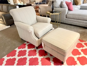 Dawson Chair and Ottoman Set