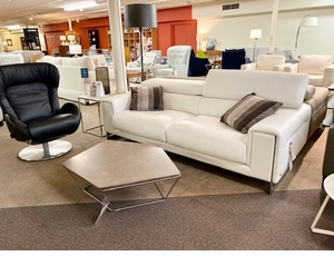Etoile Sofa by Natuzzi Italia White Leather