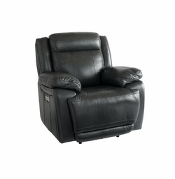 Evo Reclining Chair with Power in Graphite by Bassett