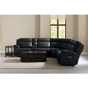 Evo Reclining Sectional Sofa with Power in Graphite by Bassett