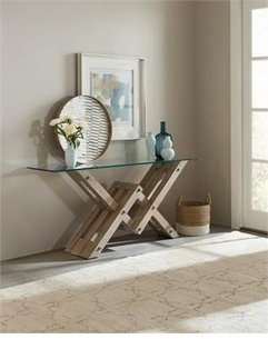 Glass Top Accent Console