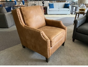 Leather Chair by Bassett