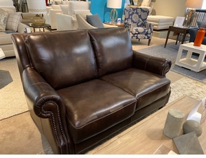 Leather Loveseat by Bassett