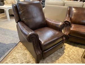 Leather Power Recliner by Bassett