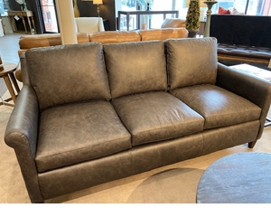 Leather Sofa with Spring Down Cushions