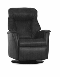 Lord Motorized Relaxer Recliner in Grey Fabric Large