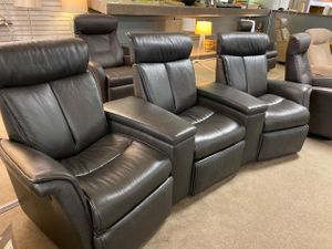 Luc Home Theater in Leather