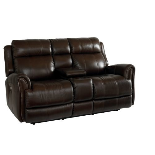 Marquee Loveseat with Power Recliners and Console