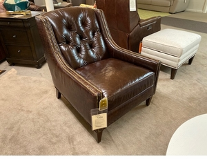 Millie Tufted Back Leather Chair