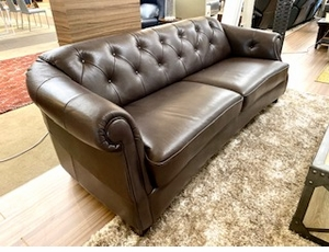 Natuzzi B520 Sofa in Brown Leather