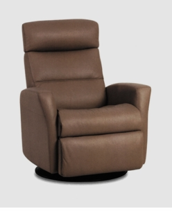 Paradise Motorized Recliner in Chocolate Leather Compact Size