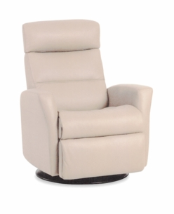 Paradise Motorized Recliner in Cream Leather Standard Size
