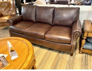 Rodney 8 way hand tied leather sofa