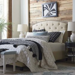 Savannah Upholstered Bed by Bassett Furniture
