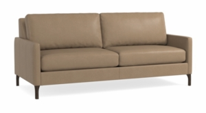 Serafina Leather Sofa by Bassett Furniture