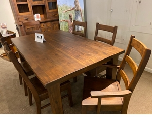 Solid Walnut Amish Made Dining Set